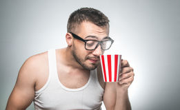 Funny man, isolated Stock Image