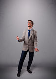 Funny man juggling with copy space Stock Photo