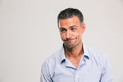 Funny man looking away Royalty Free Stock Photography
