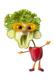 Funny man made of fresh vegetables Royalty Free Stock Photography
