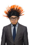 The funny man with mohawk hairstyle Stock Image