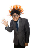 The funny man with mohawk hairstyle Royalty Free Stock Photography