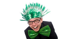 Funny man with mohawk hairstyle Royalty Free Stock Photography