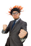Funny man with mohawk hairstyle Stock Photo