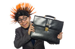 Funny man with mohawk hairstyle Stock Photography