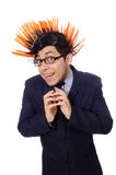 Funny man with mohawk hairstyle Stock Photos
