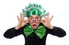 Funny man with mohawk hairstyle Royalty Free Stock Images