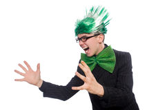 Funny man with mohawk hairstyle Royalty Free Stock Image