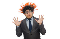 Funny man with mohawk hairstyle Royalty Free Stock Photo