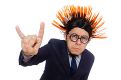The funny man with mohawk hairstyle Stock Photo