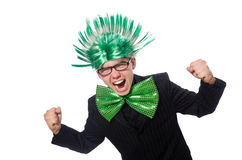 The funny man with mohawk hairstyle Royalty Free Stock Photos