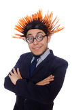 Funny man with mohawk hairstyle Stock Images