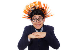 The funny man with mohawk hairstyle Royalty Free Stock Images