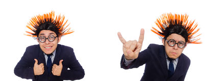 The funny man with mohawk hairstyle Stock Photography