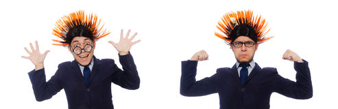 The funny man with mohawk hairstyle Royalty Free Stock Photo