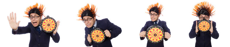 The funny man with mohawk hairstyle Stock Photos