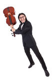 Funny man with music instrument Stock Photography