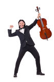 Funny man with music instrument Stock Image