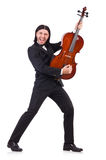 Funny man with music instrument Stock Images