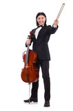 Funny man with music instrument Stock Photo