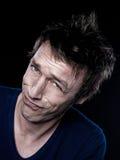 Funny Man Portrait Stock Images