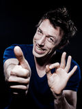 Funny Man Portrait Stock Photo