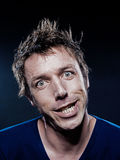 Funny Man Portrait grimacing Royalty Free Stock Image