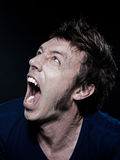 Funny Man Portrait screaming Royalty Free Stock Photography