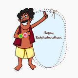 Funny man for Raksha Bandhan celebration. Royalty Free Stock Photography