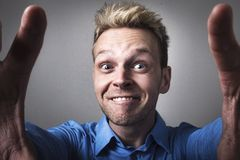 Funny man selfie Royalty Free Stock Images
