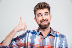 Funny man showing thumb up Stock Photography