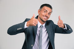 Funny man showing thumbs up Stock Images