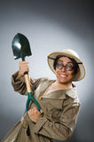 The funny man with the spade Stock Photos