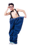 Funny man with trousers Royalty Free Stock Image