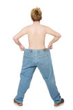 Funny man with trousers Stock Photo