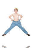 Funny man with trousers Stock Photography