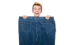 Funny man with trousers Royalty Free Stock Photography