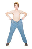 Funny man with trousers Royalty Free Stock Images