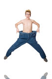 Funny man with trousers Stock Image