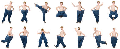 The funny man with trousers Royalty Free Stock Photography