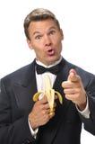 Funny man in tuxedo Stock Photos