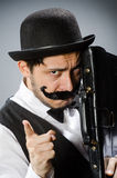 The funny man in vintage concept Royalty Free Stock Images