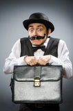 The funny man in vintage concept Royalty Free Stock Image