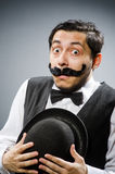 The funny man in vintage concept Royalty Free Stock Photography
