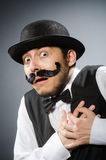 The funny man in vintage concept Royalty Free Stock Photo