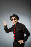 The funny man with vintage hat Stock Photo