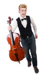 Funny man with violin Stock Image