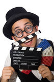 The funny man wearing giant bow tie Royalty Free Stock Photos