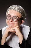 The funny man wearing nun clothing Royalty Free Stock Image