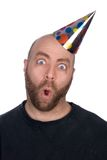 Funny man wearing a party hat Royalty Free Stock Photos